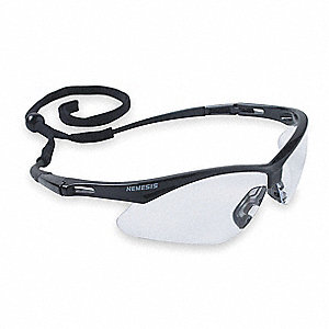 Jackson Safety V30 Nemesis Scratch-Resistant Safety Glasses, Clear Lens Color