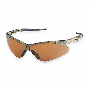 Jackson Safety V30 Nemesis Scratch-Resistant Safety Glasses, Bronze Lens Color