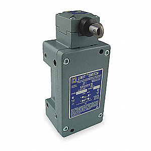 Plunger, Roller Hazardous Location Limit Switch; Location: Side, Contact Form: 1NC/1NO, Vertical Mov