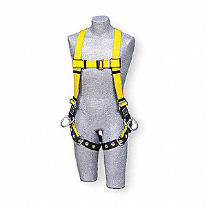Universal Construction, General Industry Full Body Harness, 6000 lb. Tensile Strength, 420 lb. Weigh
