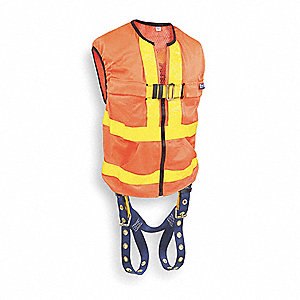 Universal General Industry Full Body Harness, 6000 lb. Tensile Strength, 420 lb. Weight Capacity, Or