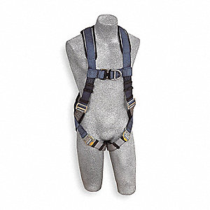 ExoFit™ Full Body Harness with 420 lb. Weight Capacity, Blue/Gray, L