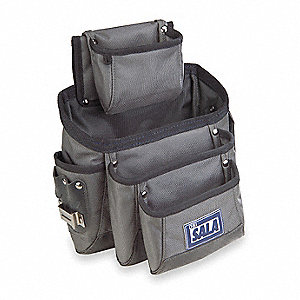 Pocket Construction Pouch,Gray/Black