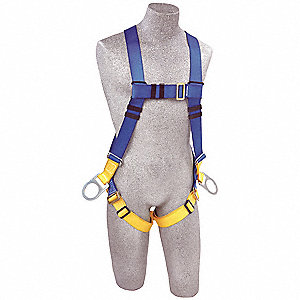 First™ Full Body Harness with 320 lb. Weight Capacity, Black/Blue, Universal