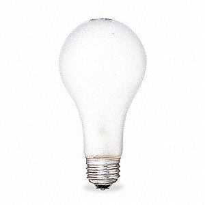200 Watts Incandescent Lamp, A21, Medium Screw (E26), 3405 Lumens, 2900K Bulb Color Temp.