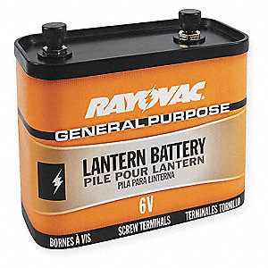 General purpose Lantern Battery, Voltage 6.0, Screw Terminal Type