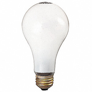75 Watts Incandescent Lamp, A19, Medium Screw (E26), 705 Lumens, 2800K Bulb Color Temp., 1 EA