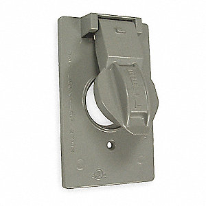 "Weatherproof Cover, 4-1/2"" Height, 2-3/4"" Width, Number of Gangs: 1"
