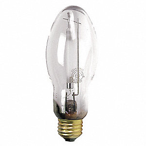 HID Lamp, Metal Halide Lamp Type, BD17 Bulb Shape, Enclosed Fixture Type, 100 Watts