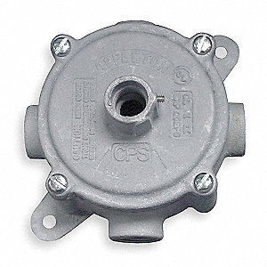"Outlet Box,3/4"" Hub"