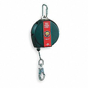 50 ft. Self-Retracting Lifeline with 310 lb. Weight Capacity, Black/Red