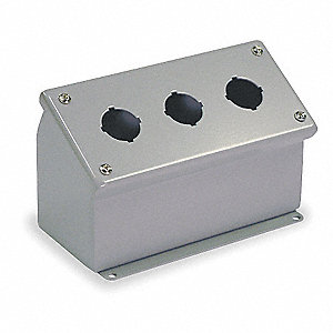 Sloping Front Pushbutton Enclosure, 12, 13 NEMA Rating, Number of Columns: 1
