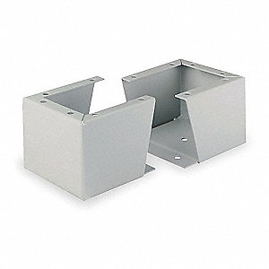 Enclosure Stand,Gray,12 In H x 8 In D