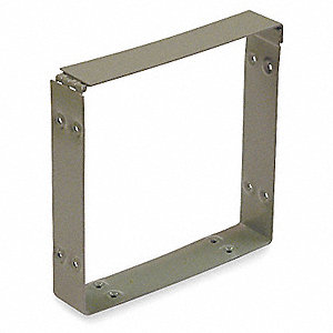 Wireway,Connector,6x6 Sq In,Steel,Gray