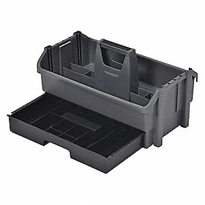 Tool Organizer/Caddy, Gray w/Black Drawer Plastic