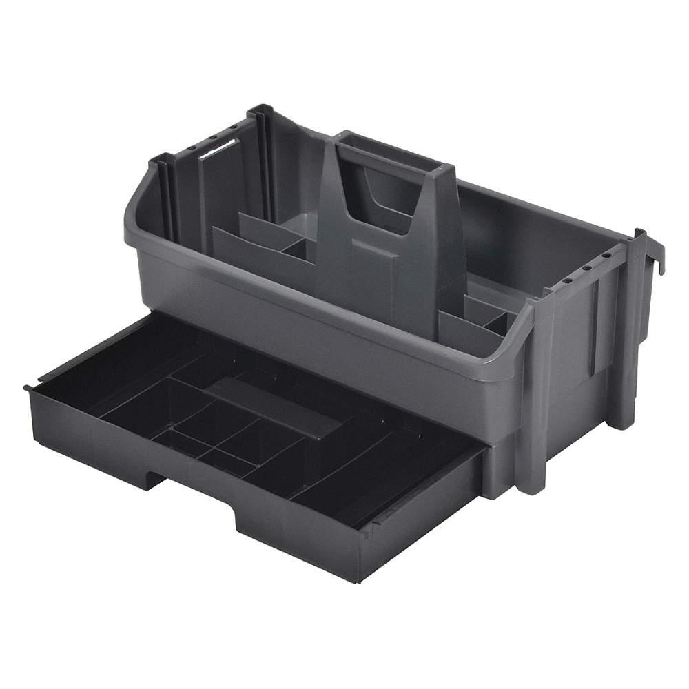 CONTICO Tool Organizer/Caddy, Gray w/Black Drawer Plastic - 2VE96 ...