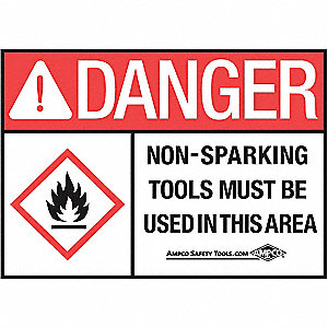 Danger Sign,10 x 14In,BK and R/WHT,ENG