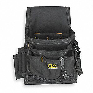 "Electrical/Maintenance Pouch, Black Polyester, 9"" Height, 8"" Width, 3"" Depth"