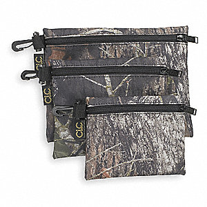 Polyester Clip-On Zipper Bag, General Purpose, Number of Pockets: 1, Mossy Oak