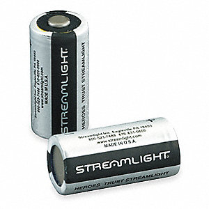 Lithium Battery, Voltage 3, Battery Size 123, 2 PK