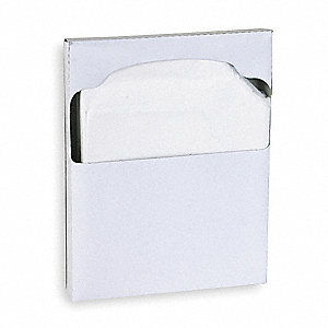 "Toilet Seat Cover, 15"" x 10-1/8"", Number of Sheets: 200, 25 PK"