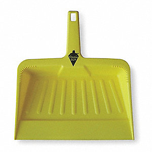 "Plastic Hand Held Dust Pan, Overall Length 12"", Overall Width 12"""