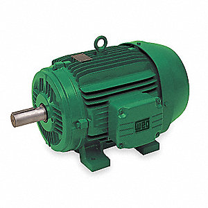 1-1/2 HP Cooling Tower Motor,1165 Nameplate RPM,208-230/460 Voltage,Frame 182T