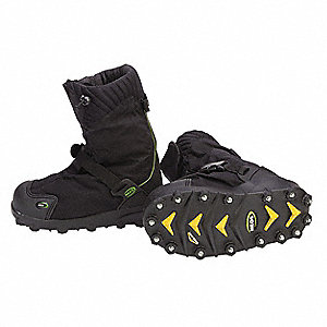 "11""H Men's Insulated Overboots, Plain Toe Type, Polyurethane Upper Material, Black, Size 2XL"