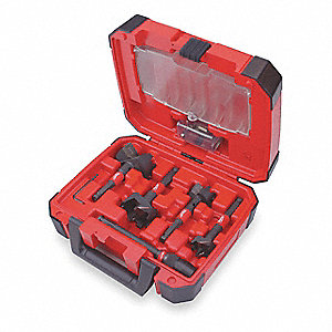 Self-Feed Drill Bit Set,5 Pc