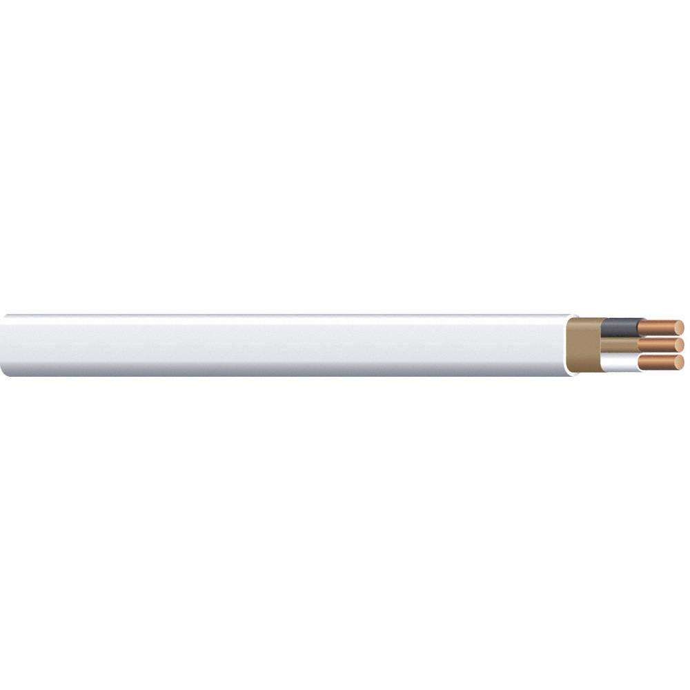 ROMEX Nonmetallic Cable,14/2 AWG,White,100ft - 2VGA4 28827428 - Grainger