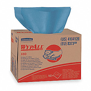 Blue Hydroknit(R) Disposable Wipes, Number of Sheets 160