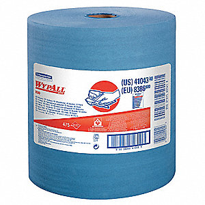 Blue Hydroknit(R) Wypall Wiper Rolls, Number of Sheets 475