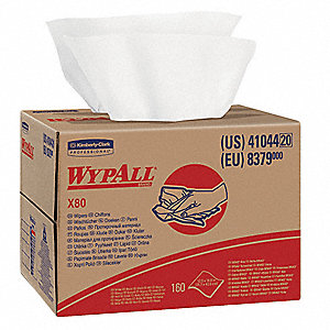 "Hydroknit(R) Disposable Wipes, 160 Ct. 12-1/2"" x 16-4/5"" Sheets, White"