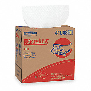 White Hydroknit(R) Disposable Wipes, Number of Sheets 80, Package Quantity 5