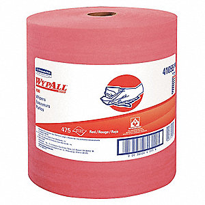 Red Hydroknit(R) Wypall Wiper Rolls, Number of Sheets 475