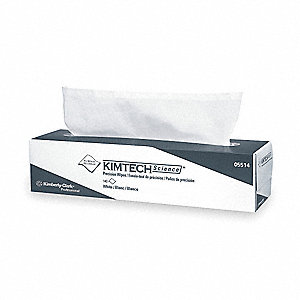 "Kimtech Science LWC (Light Weight Crepe) Disposable Wipes, 140 Ct. 14-2/3"" x 16-3/5"" Sheets, White"