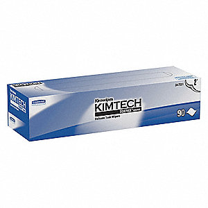 "Kimwipes LWC (Light Weight Crepe) Disposable Wipes, 90 Ct. 14-2/3"" x 16-3/5"" Sheets, White"