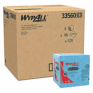 "Disposable Wipes, 12-1/2"" x 12"", 66 Wipes per Container, 8 PK"