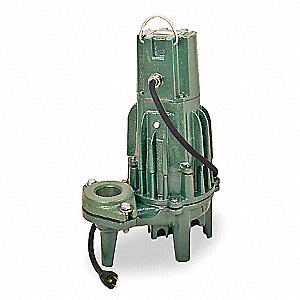 1-1/2 HP Submersible Effluent Pump, Operation Type: Manual, Switch Type: None