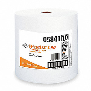 White DRC (Double Re-Creped) Wypall Wiper Rolls, Number of Sheets 950