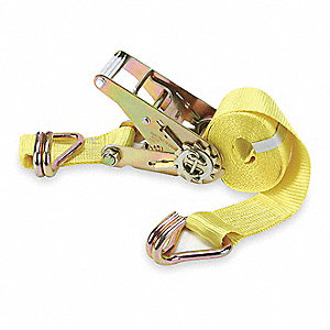 "Tie Down Strap, 15 ft.L x 2""W, 1666 lb. Load Limit, Adjustment: Ratchet"