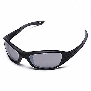 Heat™ Scratch-Resistant Safety Glasses, Silver Mirror Lens Color