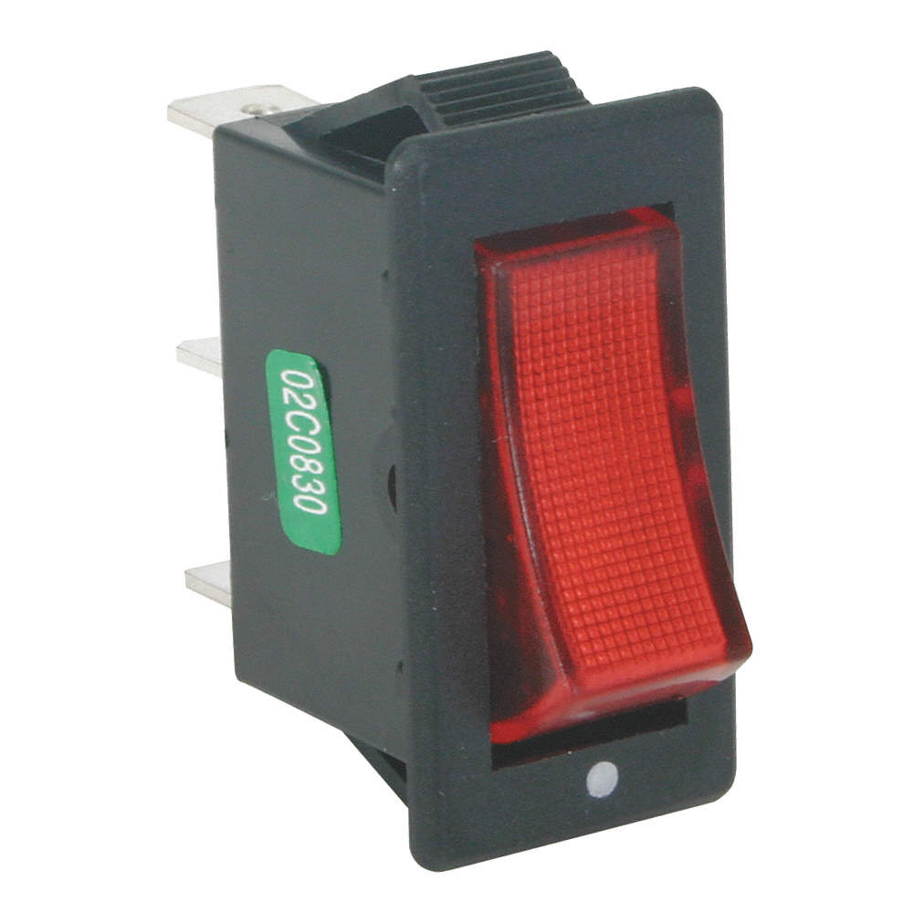 POWER FIRST Lighted Rocker Switch, Contact Form: SPST, Number of ...
