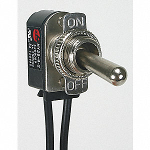 Toggle Switch, Number of Connections: 2, Switch Function: On/Off