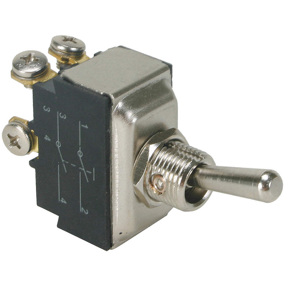 POWER FIRST Toggle Switch, Number of Connections: 4, Switch Function ...