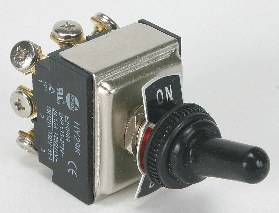 Toggle Switch, Number of Connections: 9, Switch Function: On/On