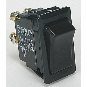 Rocker Switch, Contact Form: DPST, Number of Connections: 4, Terminals: Screw