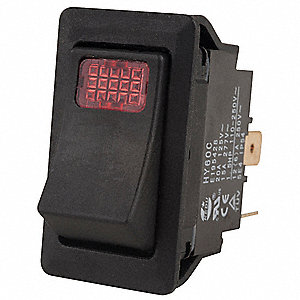 Lighted Rocker Switches: Lighted Rocker Switch, Contact Form: SPST, Number of Connections: ...,Lighting