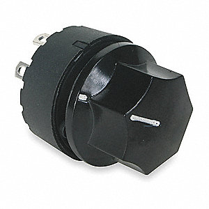Rotary Switch, Contact Form: SP4T, Number of Connections: 6, Terminals: Solder Lug