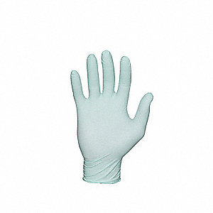 "9-1/2"" Powder Free Unlined Nitrile Disposable Gloves, Green, Size  M, 100PK"